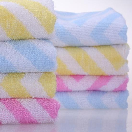 Pure Cotton Multicolor Striped Bath Towel (XQB-C002)