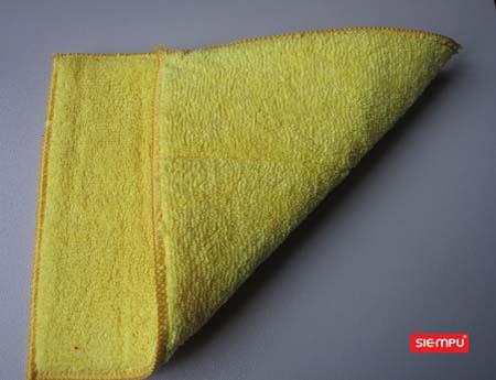 Dual Sided Microfiber Dish Cleaning Sponge (XQK-C019)