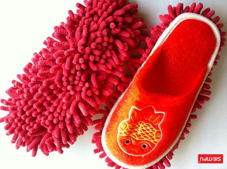 Microfiber Chenille Cleaning Slippers (XQH-C028-2)